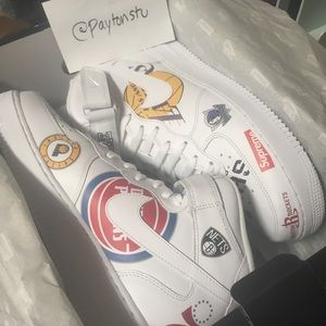 Supreme x NBA X Nike Air Force 1 Shoes White 10.5